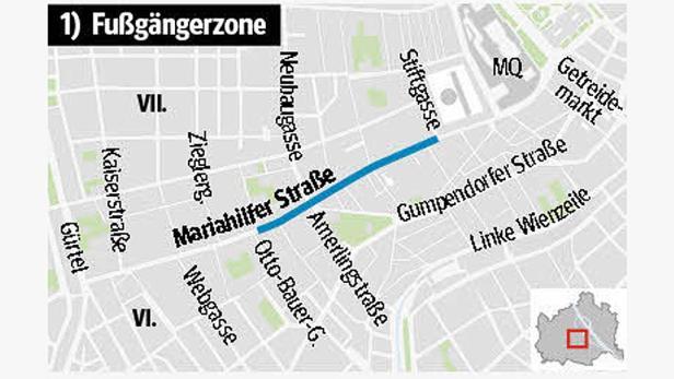 Konflikte: Schon jetzt kommen einander Autofahrer, Radler und Fußgänger auf der Mariahilfer Straße in die Quere. Eine Herausforderung für die Planer.