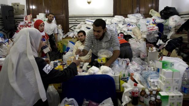 Nobelpreisträger Mohamed ElBaradei im Jänner bei den Protesten gegen Hosni Mubarak, der damals noch im Amt war.