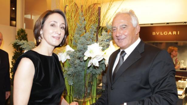Erst nach ihrer Gogol-Vorstellung schwebte Opernstar Natalia Ushakova bei Hermann Gmeiner-Wagners Shop-Opening vorbei.