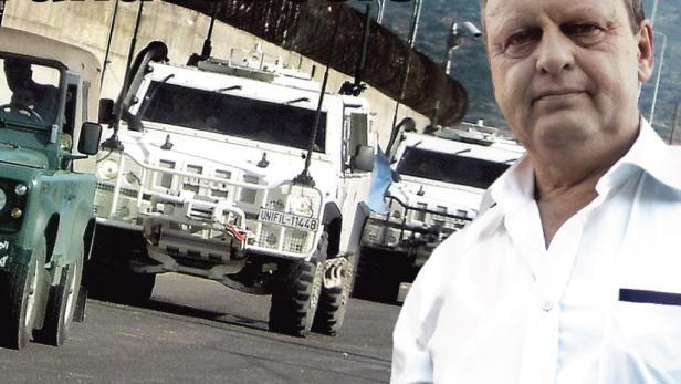 Soldaten bei ihrer Verabschiedung in den Libanon.