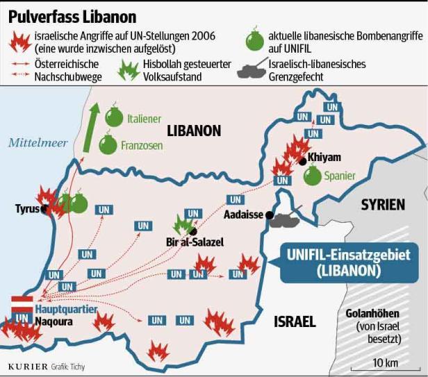 """Heikler UN-Einsatz im Schatten des mächtigen Hisbollah-Chefs Hassan Nasrallah. Seine """"Partei Gottes"""" hat einen guten Draht zum Iran"""
