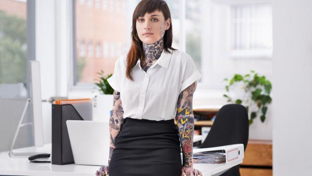 She's ready to rock the corporate scene