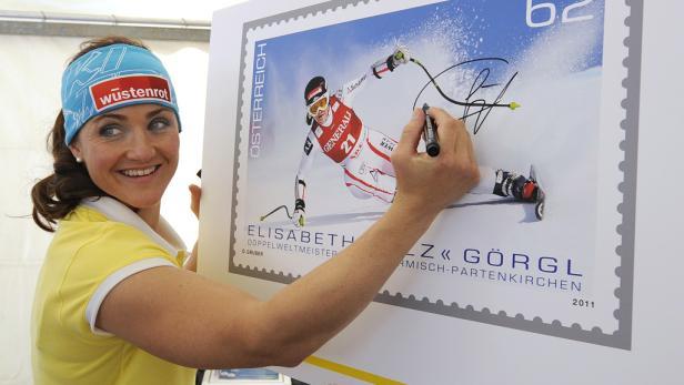 Doppelt siegt besser: Bei der Ski-WM 2011 in Garmisch holte Elisabeth Görgl Gold in Abfahrt und Super-G.