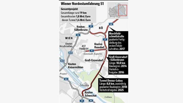 Au-Aktivisten: Seit 2006 (Bild) sorgen Autobahn und Lobautunnel für Unmut bei Grünen und Aktivisten
