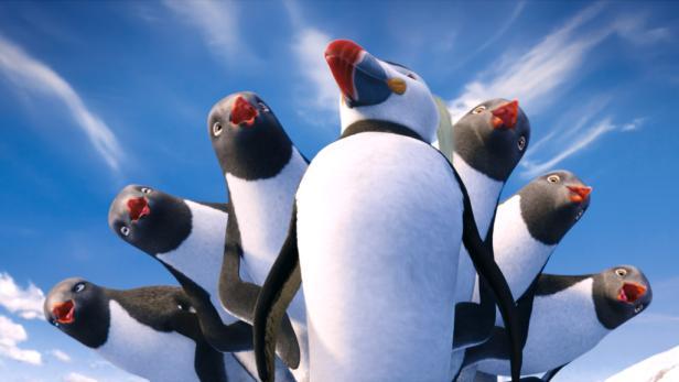 """Die Pinguine steppen wieder: Für Georges Millers Fortsetzung des oscargekrönten Animationshit """"Happy Feet 2"""" wurden 16 Millionen Figuren animiert. Ab Freitag im Kino."""