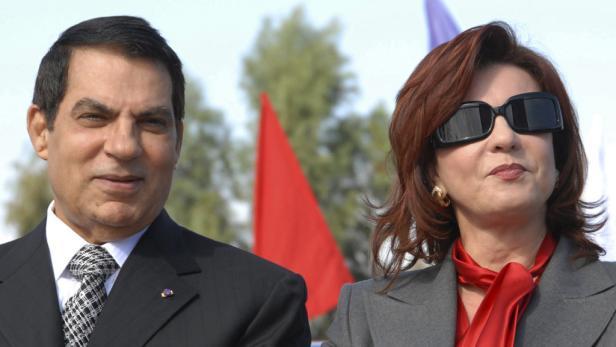 Geflüchtet: Tunesiens geflüchteter Despot Ben Ali mit Ehefrau Leila Trabelsi.
