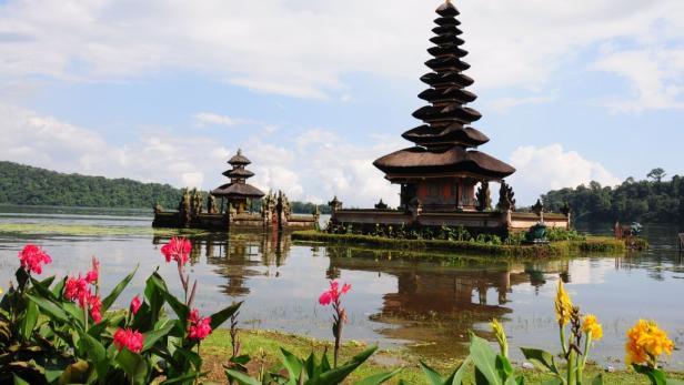 Danu Tempel auf Bali.