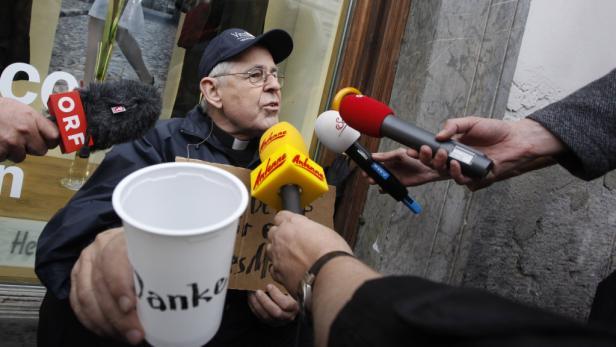 Widerstand: Gegen das Bettelverbot setzte sich Pucher auf die Straße