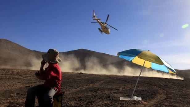 11 Hubschrauber sind bei der Dakar im Einsatz.