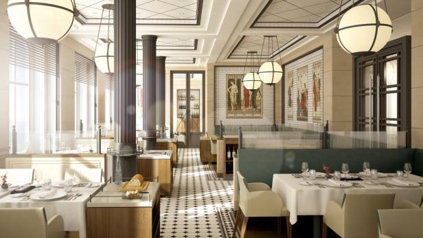 Das französische Restaurant Tarragon