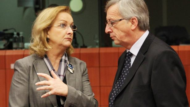 Angespanntes Verhältnis: Finanzministerin Fekter brüskiert Luxemburgs Premier und Eurogruppen-Chef Juncker.