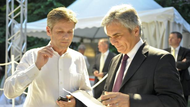 Vermutlich keine Anklage: Faymann & Ostermayer (links).
