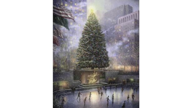 """Christmas in New York"": Idyllische Szenerien waren Kinkades bevorzugte Motive."