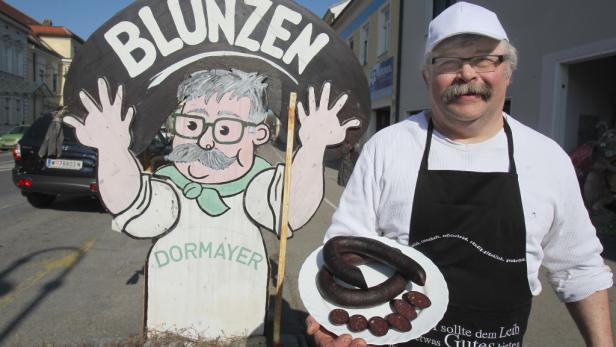 Magere Wurst: Blunzen müssen nicht fett sein, sagt Franz Dormayer.