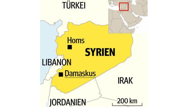 Syrien Landkarte
