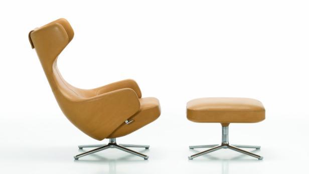 Den Grand Repos Loungestuhl entwarf der italienische Designer für Vitra.