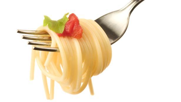Nudeln, Spaghetti, Gabel, Speisen, Italienische Ku…