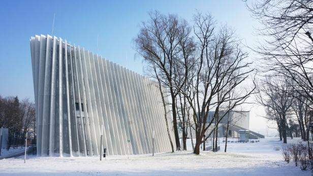 Ein Tanz weißer Lamellen oder doch ein Akkordeon? Anton Bruckner Privatuniversität in Linz