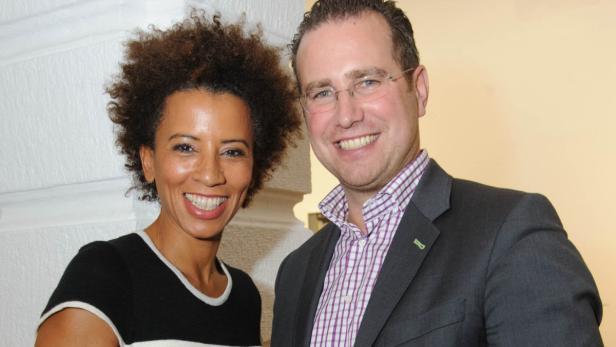 Unterstützer bei der MiA-Award-Gala: Arabella Kiesbauer mit Ehemann Florens