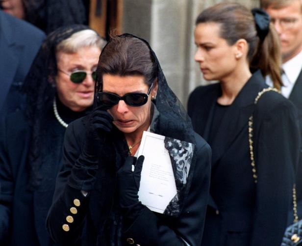 PRINCESS CAROLINE OF MONACO WEEPS