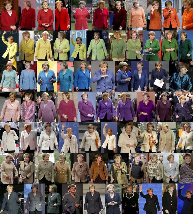 Combination picture shows German Chancellor Merkel