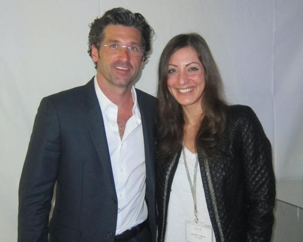Patrick Dempsey (mit KURIERRedakteurin Jasmin Schakfeh), Star aus Grey'sAnatomie