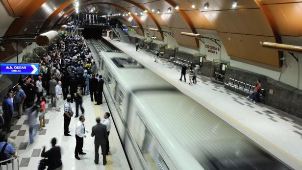 Eine U-Bahn-Station in Sofia, die 2012 eröffnet wurde