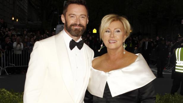 Jackman mit seiner Frau Deb