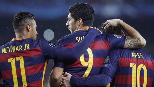 Neymar, Suarez und Messi trafen