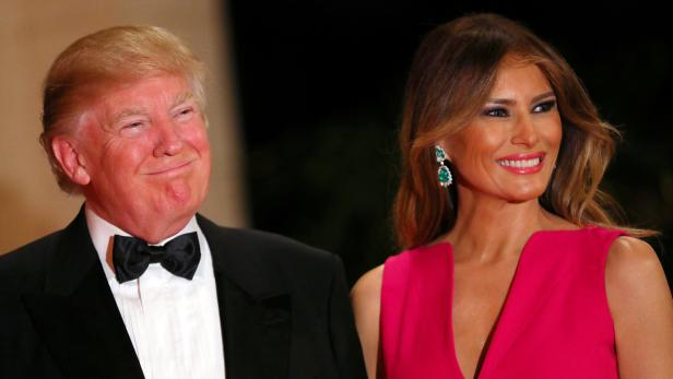 U.S. President Donald Trump and First Lady Melania