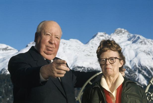 Alfred Hitchcock and His Wife Alma