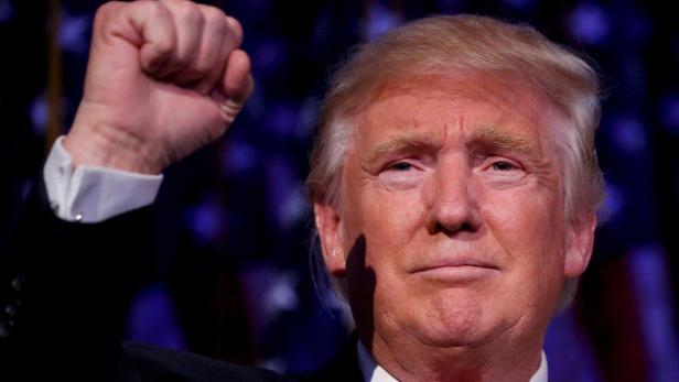 FILE PHOTO:  U.S. President-elect Donald Trump spe