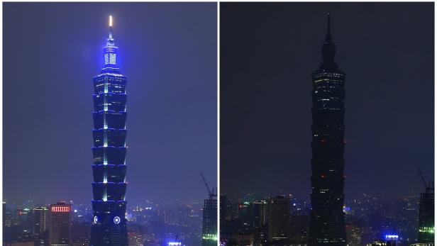 Taiwan am 19.3.2016 - mit und ohne Beleuchtung
