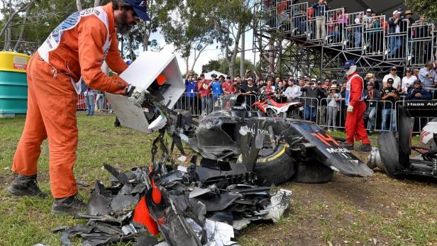 Das blieb über von Alonsos McLaren