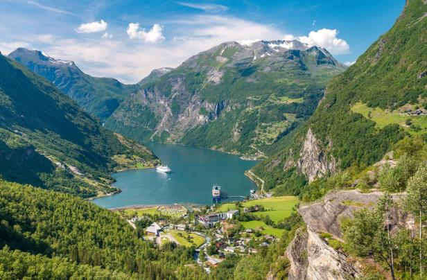 Geirangerfjord is the most famous natural landmark