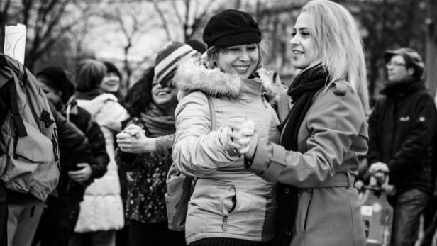 Eindrücke vom One Billion Rising in Wien im Jahr 2016 (c) Andrea Peller
