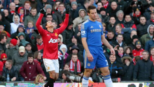 Javier Hernandez traf für Manchester