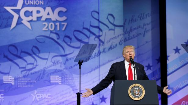Trump addresses CPAC in Oxon Hill, Maryland