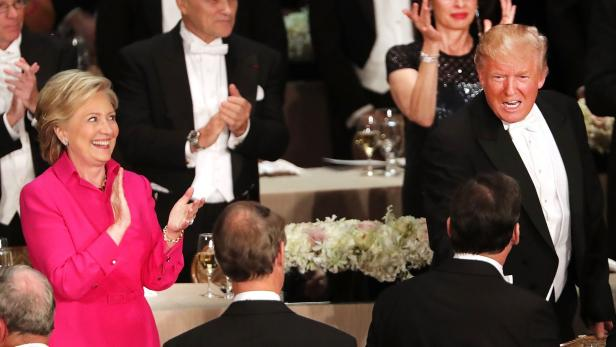 US-DONALD-TRUMP-AND-HILLARY-CLINTON-ATTEND-ALFRED-