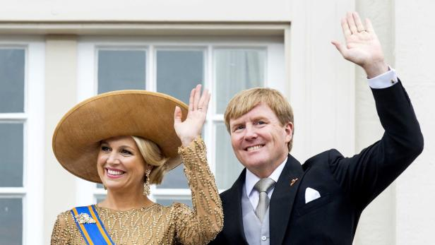 Platz 3: König Willem-Alexander mit Maxima
