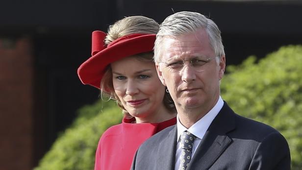 Platz 5: Belgiens König Philippe mit Mathilde