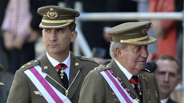 Platz 7: Juan Carlos von Spanien mit Sohn Felipe