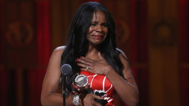 Audra McDonald accepts her award during the Americ