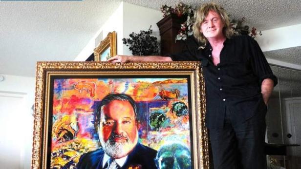 """Dick Zimmerman bekam den Auftrag, ein Bild von P.'s """"Freund"""" Carlos Slim, dem reichsten Mann der Welt, zu malen. Es soll 200.000 Euro wert sein"""
