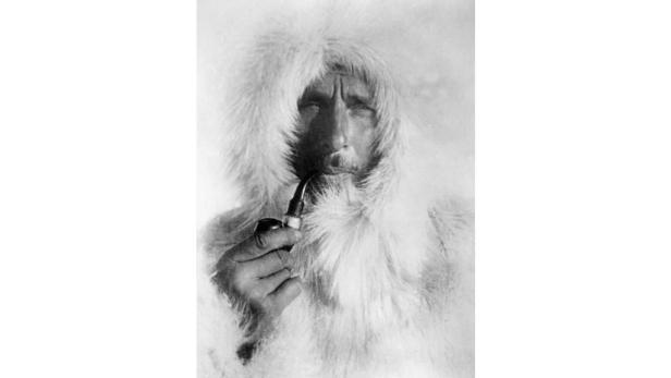 Polarforscher Alfred Wegener auf einer Grönland-Expedition.