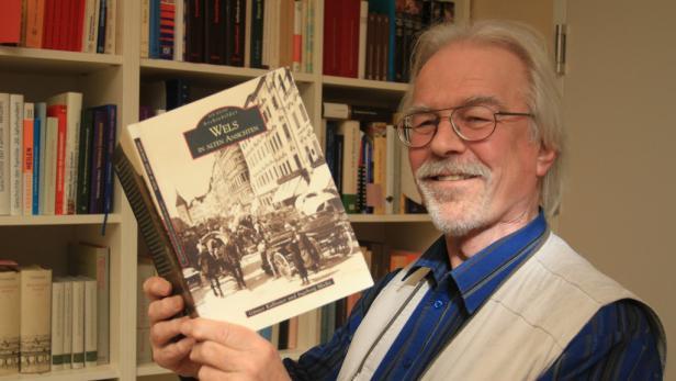 Stadtarchivar Günter Kalliauer schätzt das Engagement der Welser Geschäftsleute.