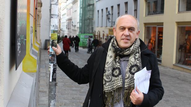 Fußgänger-Profi : Dieter Schwab glaubt zu wissen, wo man ansetzen müsste, um Wien zur Fußgänger-Hauptstadt Europas zu machen. Der KURIER spazierte mit ihm und dem Schrittzähler durch die Straßen und Gassen in Neubau