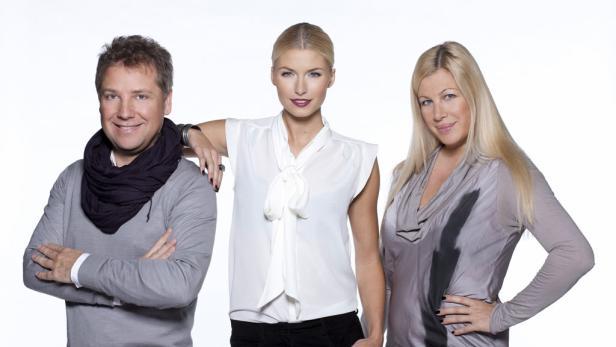 Die Jury: Atil Kutoglu, Lena Gercke und Elvyra Geyer.