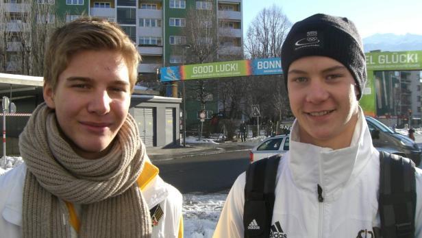 Vorfreude: Linus und Johannes (v. li.) aus Bayern.