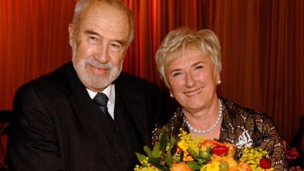 Ernst Wolfram Marboe mit Monika Lindner im Jahr 2008.